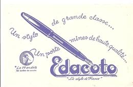 Buvard Edacato Le Stylo De France Un Stylo De Grande Classe Couleur Bleu - Stationeries (flat Articles)