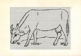 [DC3692] CPA - ANIMALI - MUCCA - TUTTA FORATA - BUCHERELLATA - Non Viaggiata - Old Postcard - Cartes Postales