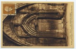 """Rare Cachet Hexagonal """"Sembadel-gare Haute Loire 1946"""" Indice Pothion=15 Marianne Dulac Cp Chaise Dieu Porte Pour Lyon - Poste Ferroviaire"""