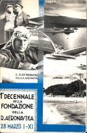 [DC3698] CPA - MILITARI SOLDATI MILIZIA VENTENNIO FASCIO 1°DECENNALE DELLA FONDAZIONE R.AERONAUTICA - NV - Old Postcard - Manovre