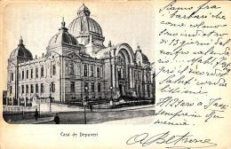[DC3738] CPA - ROMANIA - CASA DE DEPUNERI - Viaggiata 1908 - Old Postcard - Romania