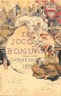 [DC3758] CPA - CARTOLINA RARISSIMA - FIRMATA PAGGIARO - EX JOCO BONUM - CARNEVALE TREVISO  Viaggiata 1899 - Old Postcard - Treviso