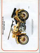 Modélisme MOTOCYCLETTE B M W R  75 AVEC SIDE CAR - Unclassified