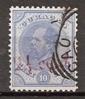 Curacao 1895 Hulpzegel 2,5 Op 10ct NVPH 24 Gestempeld. Zie Scan - Curaçao, Antilles Neérlandaises, Aruba