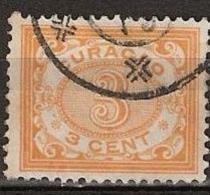 Curacao 1904 Cijfer 3ct Oranje NVPH 32 Gestempeld. - Curaçao, Antilles Neérlandaises, Aruba