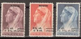 Curacao 1947  N.I.W.I.N. NVPH 182-184 Ongestempeld/MH/* - Curacao, Netherlands Antilles, Aruba