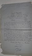Depeche Telegraphique Tours 23 Sept 1870 Debut Du Siege De Paris Appel A L'Unite - Marcophilie (Lettres)