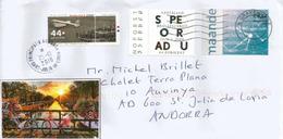 PAYS-BAS.Hommage à Louis Braille, Sur Lettre Adressée ANDORRA,avec Timbre à Date  Arrivée - Handicaps