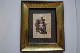 Papyrus égyptien Dans Son Tableau - Art Africain