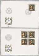 Liechtenstein Paintings Visitors  Angelika Kaufmann SINGLE AND BLOCK With Day Of Issue Cancel 1982 A04s - FDC