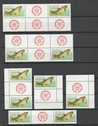 DDR - 1987 Fishes Mi. 3096 Lotto 10v. In Coppie Nuovi** - Unused Stamps