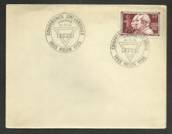 """Conférence Universelle """" Le Rocheton """" UCJG - MELUN 1955 / N° 1033 -  Frères Lumière - Marcophilie (Lettres)"""