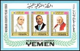 Yemen Royaume (kingdom) - 4011/ Bloc N° 120 B Pape Pope Luther King ** MNH