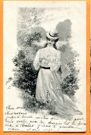 Y204, Belle Fantaisie, Femme Avec Un Chapeau, Précurseur, Circulée 1903 - Femmes