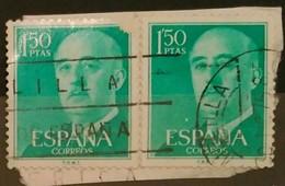 ESPAÑA 1955- 1956. FRANCO. FECHADOR MELILLA. USADO - USED. - 1931-Hoy: 2ª República - ... Juan Carlos I