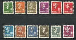 Norvège Divers Timbres De 1926-29 Oblitérés - Oblitérés