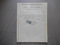 FROIDESTREES AISNE ALBERT HENNECHART BOURRELLERIE-SELLERIE FACTURE DU 17 NOVEMBRE 1922 - France