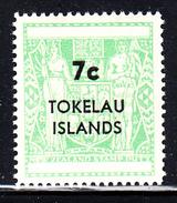 Tokelau MNH Scott #14 7c Surcharge On New Zealand Postal-Fiscal Coat Of Arms 1967 - Tokelau