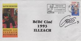 BEDECINE 1993 Lettre Signée GREG + Flamme CUBITUS De DUPA Festival Bédé Strip Comics Cartoon - Comicfiguren