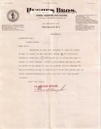 Document Du 03/02/1915 HUGHES BROS Vancouver - Canada - Canada