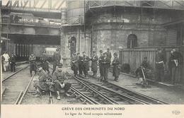 NORD GREVE DES CHEMINOTS LIGNE DU NORD OCCUPEE MILITAIREMENT 59 - France