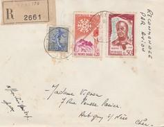 Lettre Recommandée De Secteur Postal 88270 (AFN) Du 21-09-1961 Pour Aubigny-sur-Nère (Cher-18) - Marcophilie (Lettres)