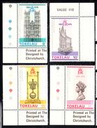 Tokelau MNH Scott #61-#64 Set Of 4 1978 25th Anniversary Coronation: Westminster, Throne, Jewels, Queen Elizabeth - Tokelau