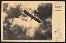CARTE PHOTO - 1943 - SEGELSCHULFLUGZEUG DER REICHSSCHULE FÜR SEGELFLUSPORT - Selten !! PLANEUR -édit. Walter Staudte - Aviation