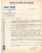 Facture - Lettre - Albert Doose - Spécialités De Produits Pour L'agriculture - La Chapelle-D'Armentières 9.10.1944 - Frankreich