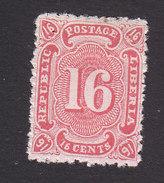 Liberia, Scott #23, Mint No Gum, Number, Issued 1882 - Liberia