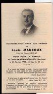 Louis Mauroux Mort Pour La France Au Camp De Melk Mauthausen Guerre 40-45 Résistance Saint-Jean-Poutge - Obituary Notices