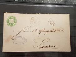 1871 25 Rp Tüblibrief Rüti Nach Lindau Deutschland PD Stempel  AK Zürich Und Lindau - Stamped Stationery