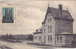 Lierneux - La Gare (Desaix, 1920, Vignette Pax Veritas Libertas Justitia) - Lierneux