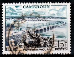 French Cameroon, FIDES, Bridge On Wouri River, Douala, 1956, VFU - Cameroun (1915-1959)