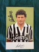 Fotografia Allegata A Hurrà Juventus Anni '80/90 Di Rui Barros Della Juventus Con Autografo Originale - Fútbol