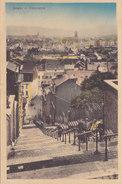 Liège - Panorama, Montagne De Bueren, Escaliers (animée, Colorisée, Vue De Haut, Edit. L. Roufosse) - Liege