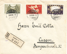 73) SVIZZERA RACCOMANDATA 3.3.1920 SERIE PAX - Posta Aerea