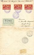 71) SVIZZERA LETTERA VOLO LAUSANNE-LAUFENBURG 31.8.1924 MON. DES RANGIERS - Posta Aerea
