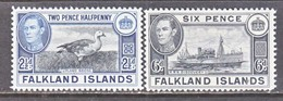 FALKLAND  ISLANDS  101-2   *   ICE  BREAKER   FAUNA  GOOSE - Falkland Islands