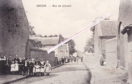 RACOUR - Rue De Lincent - Superbe Carte Très Animée - Lincent