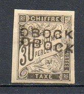 Colonies Françaises - OBOCK (Colonie Française) - 1892 - TAXE N° 13b - 30 C. Noir (Double Surcharge) - Stamps