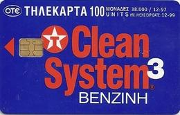 Greece - Texaco Clean System - X0472 - 12.1997, 38.000ex, Used - Grecia
