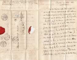 FRANKREICH Brief 1861, France 1 Lettre De Fourches Pour Lannion De 1861 (timbre Oté) Cachet OR UK122 - France