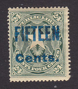 Liberia, Scott #96, Mint Hinged, Coat Of Arms Surcharged, Issued 1903