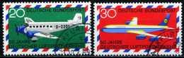 BRD - Michel 576 / 577 - OO Gestempelt (C) - 50 Jahre Luftpostverkehr - [7] West-Duitsland
