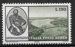 Italy, Scott # C138 Mint Hinged Verrazono, 1964 - 1946-.. Republiek