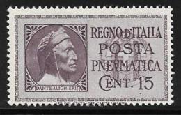 Italy, Scott # D15 MNH Pneumatic Post, 1933 - 1946-.. Republiek