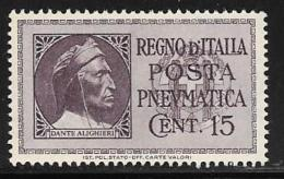 Italy, Scott # D15 Mint Hinged Pneumatic Post, 1933 - 1946-.. Republiek