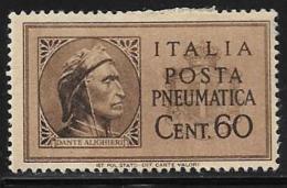 Italy, Scott # D17 Mint Hinged Pneumatic Post, 1945 - Poste Aérienne