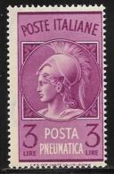 Italy, Scott # D19 Mint Hinged Pneumatic Post, 1947 - Poste Aérienne